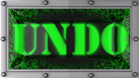 undo : undo  announcement on the LED display Stock Footage