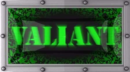 valiant : valiant  announcement on the LED display