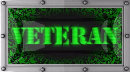 veterano : veteran  announcement on the LED display