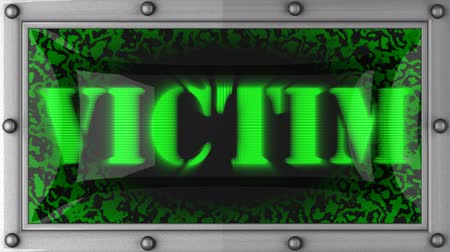 жертва : victim  announcement on the LED display