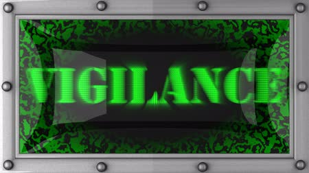 бдительность : vigilance  announcement on the LED display