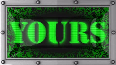 yours : yours  announcement on the LED display