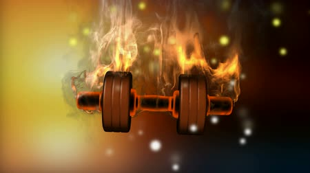 building heat : burning dumbbell. alpha matted