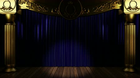 scena : Loop light on fabric curtain stage Wideo