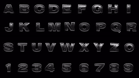 хром : loop alpha matted metal alphabet