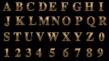 abeceda : loop alpha matted golden alphabet with wood