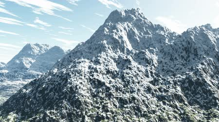 picos : Aerial shot of snowy mountain peak