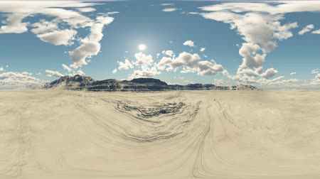 realidade : panoramic desert. made with one 360 ??degree lense camera without any seams. 360 ready for virtual reality