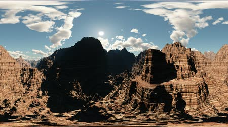 united states : panoramic of canyon timelapse. made with the one 360 ​​degree lense camera without any seams. ready for virtual reality 360