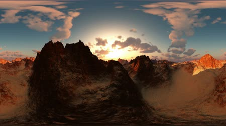 rocks red : panoramic of canyon timelapse at sunset. made with the one 360 ??degree lense camera without any seams. ready for virtual reality 360