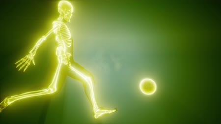 costelas : soccer player with visible bones Stock Footage