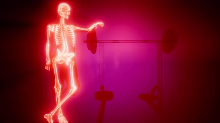 obratel : man in gym room with visible bones