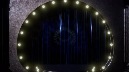 publicity : curtain stage with lights Stock Footage