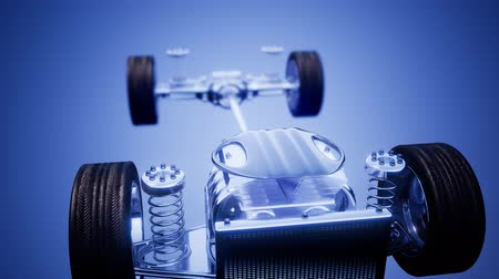 rolamento : car chassis with engine and wheels