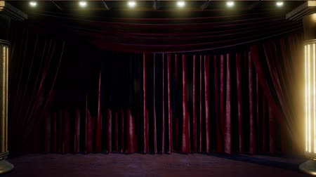 chester : curtain stage with lights Stock Footage