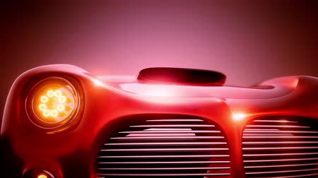 headlights : Luxury Brandless Sport Car Stock Footage
