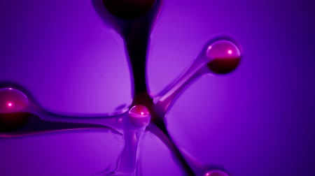 atomů : atom model on colored background