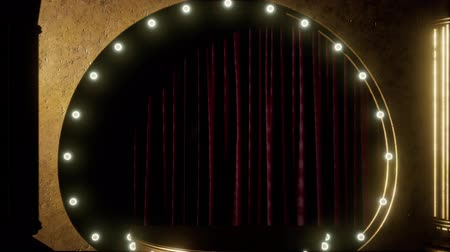 segmento : curtain stage with lights Stock Footage