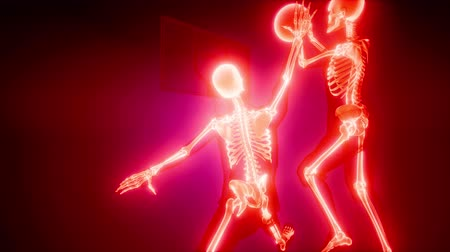 radiologia : basketball game players with visible bones
