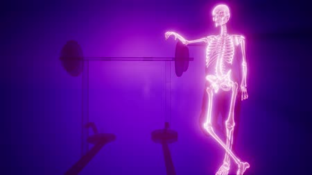 férfias : man in gym room with visible bones