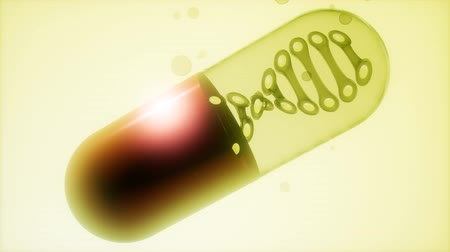 dna strings : micro capsule with DNA Stock Footage