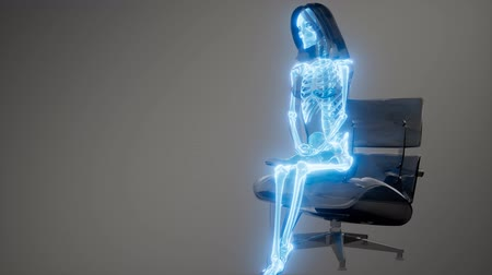 the inflammation : Human Skeleton Radiography Scan