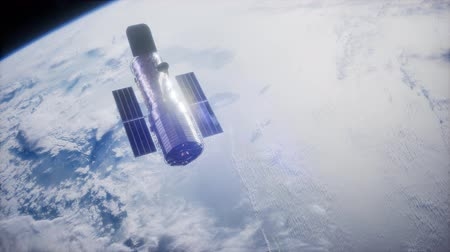 Hubble Space Telescope orbiting Earth.
