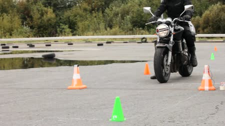 autobike : Lipetsk, Russian Federation - September 17, 2016: Competition the Moto gymkhana, Start motorcycle