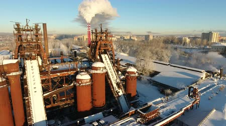 urss : old abandoned factory in Russia, Nizhny Tagil, winter