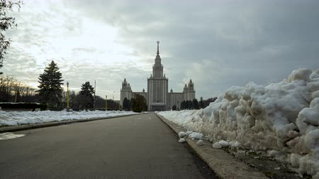zsrr : Moscow State University winter day, hiperlapse, timelapse