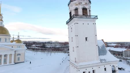 restaurar : restoration of the old church and chapel, Sverdlovsk region, Russia, winter