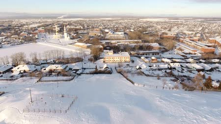 winter palace : winter landscape of the Russian outback