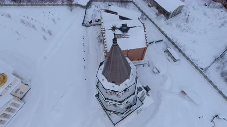 православие : restoration of the old church and chapel, Sverdlovsk region, Russia, winter