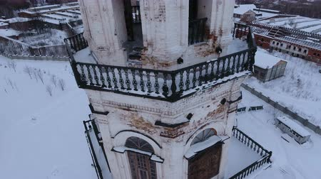 ortodoxia : restoration of the old church and chapel, Sverdlovsk region, Russia, winter