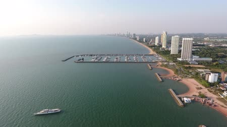 luxury port in Pattaya, Thailand. the view from the top
