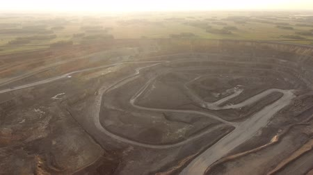 taş ocağı : Aerial view of open pit copper ore in Russia