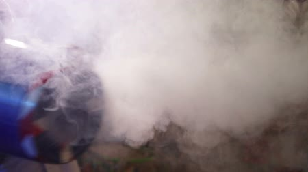 bombardment : Smoke Machine at a childrens party