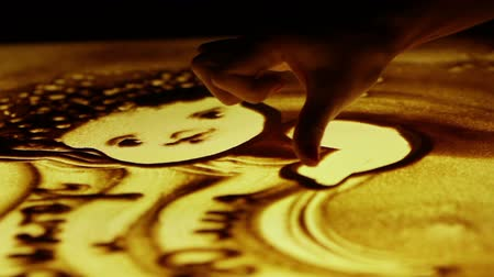dedo : Sand animation draw angels