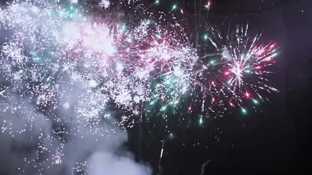 lentejoula : New Year fireworks on holiday Stock Footage