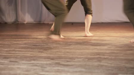 indian ethnicity : On stage group dances barefoot