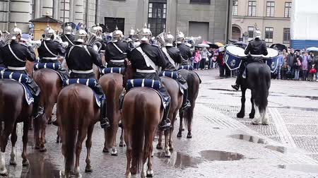 karabély : Ceremony of royal guard change at Royal Palace in Stockholm
