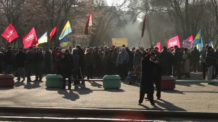 protesto : Protest action in Dnepropetrovsk Vídeos