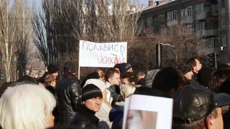 protestor : Protest action in Dnepropetrovsk Stock Footage
