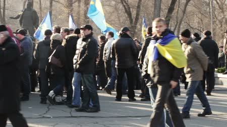 officier : une action de protestation à Dnepropetrovsk
