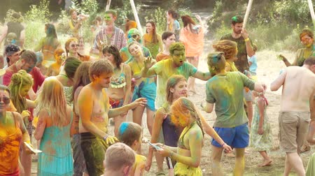 indian ethnicity : Holi Colors Festival Stock Footage
