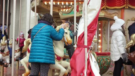 kreml : French Carousel at the Manege Square Stock mozgókép