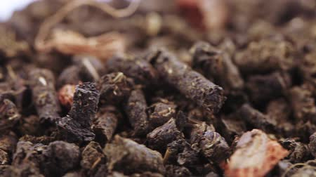 teabag : Ivan tea with Nedisarum neglectum Stock Footage