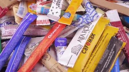 stacks : Bags of sugar in bulk Stock Footage