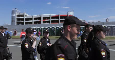 security agencies : National Guard of the Russian Federation Stock Footage