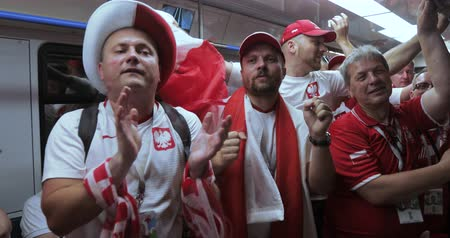crowd together : Football fans of Poland Metro